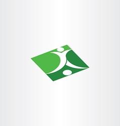 footballer shooting soccer green icon vector image