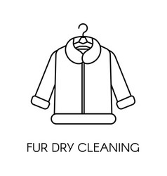 fur dry cleaning clothing care company service vector image