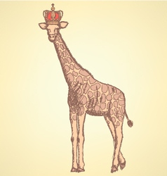 Giraffe Crown vector image
