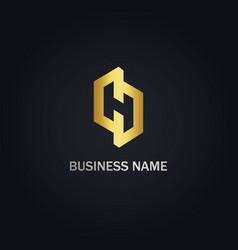 H initial company logo vector