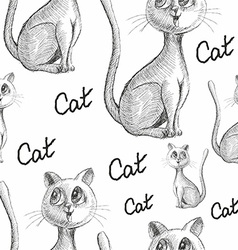 Hand Drawn Sketch of Cats vector image