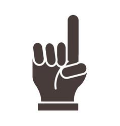 Hand with index finger ramadan arabic islamic vector
