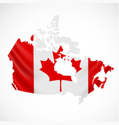 Hanging canada flag in form map canada vector
