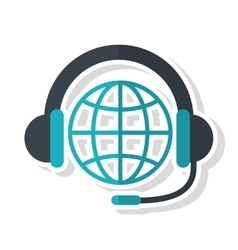 Headphone and global sphere design vector