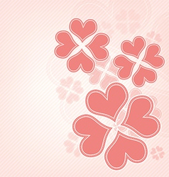 heart flower background vector image