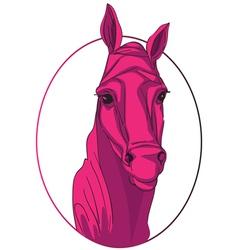 Horse medallion vector