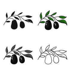 Italian olives from italy icon in cartoon style vector