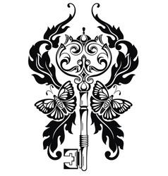 Key tattoo vector