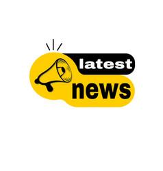 Latest news megaphone vector