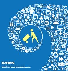 Loader sign symbol Nice set of beautiful icons vector image vector image