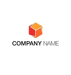 Logo cubic concept vector
