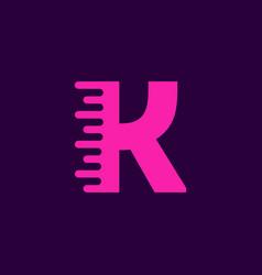 logo letter k speed vector image
