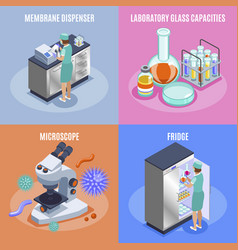 microbiology icon set vector image
