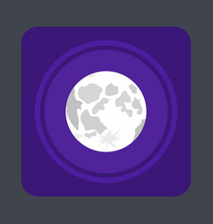 moon light concept background cartoon style vector image