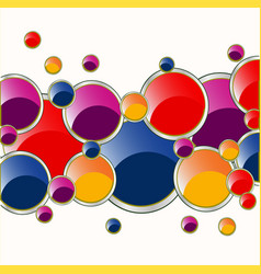 much color circles vector image