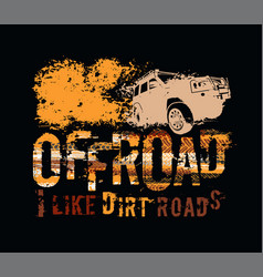 Off-road tire lettering vector