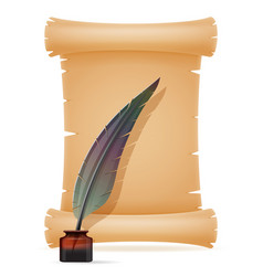 old paper scroll vector image