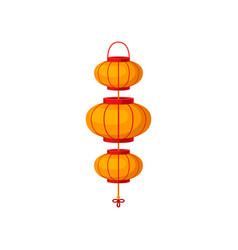 orange chinese paper lanterns decorative element vector image