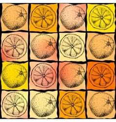 Orange geometric background vector