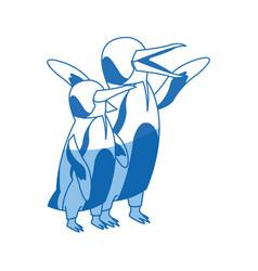 Penguin emperor pole south bird animal vector