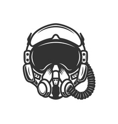 Pilot helmet design element for logo label sign vector