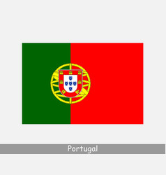 portugal portuguese national country flag banner vector image