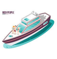 Rich life isometric composition vector