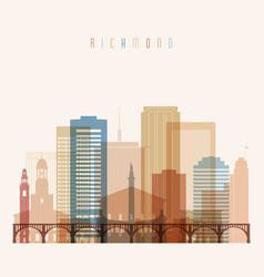 Richmond state virginia skyline detailed vector