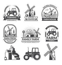Set of farm logos vector