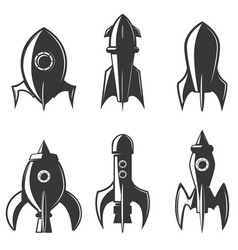 set of the rockets icons design element for logo vector image