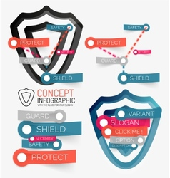 shield protection infographic vector image vector image