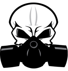 Skull with gas mask graphic vector