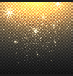stardust backdrop with transparent background vector image vector image