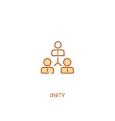 Unity concept 2 colored icon simple line element vector