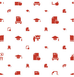 University icons pattern seamless white background vector