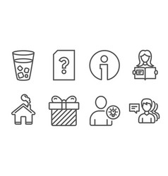 Unknown file surprise and user idea icons woman vector