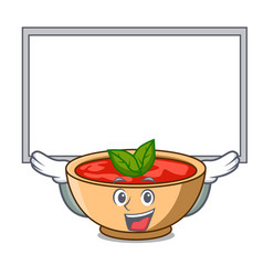 Up board tomato soup character cartoon vector