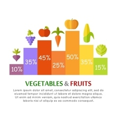 Vegetables Fruits Infographics Concept vector image