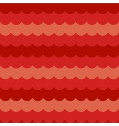 waves background seamless red flat wave vector image
