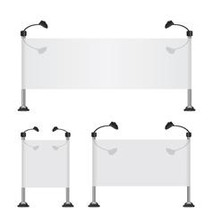 Billboard banner collection set vector image vector image