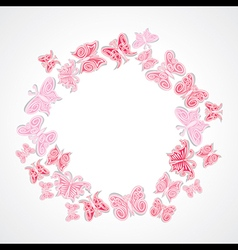 butterfly design ring shape vector image vector image