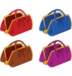 color handbags vector image vector image