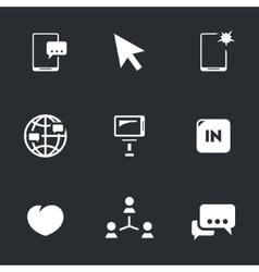 Icons set of selfie vector
