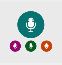 microphone icon simple vector image