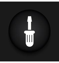 modern screwdriver black circle icon vector image vector image
