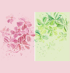 Orchids - Beautiful pastel colored design vector image vector image