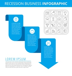 Recession business 3 vector