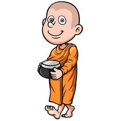 Young Monk vector image vector image