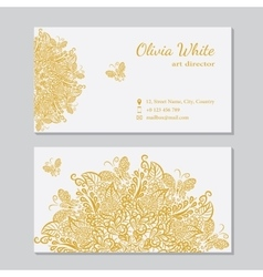 business card White background vector image vector image