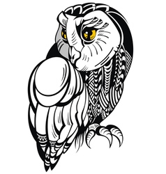 Decorative Owl vector image vector image